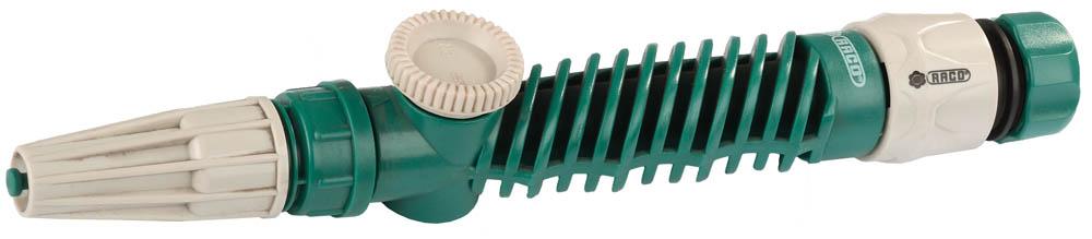 Наконечник поливочный RACO применяется для полива растений в саду и огороде, при мойке автомобиля. Непрерывная регулировка от сильной струи до распыления. Изготовлен из ударопрочной пластмассы. Не дает протечек.