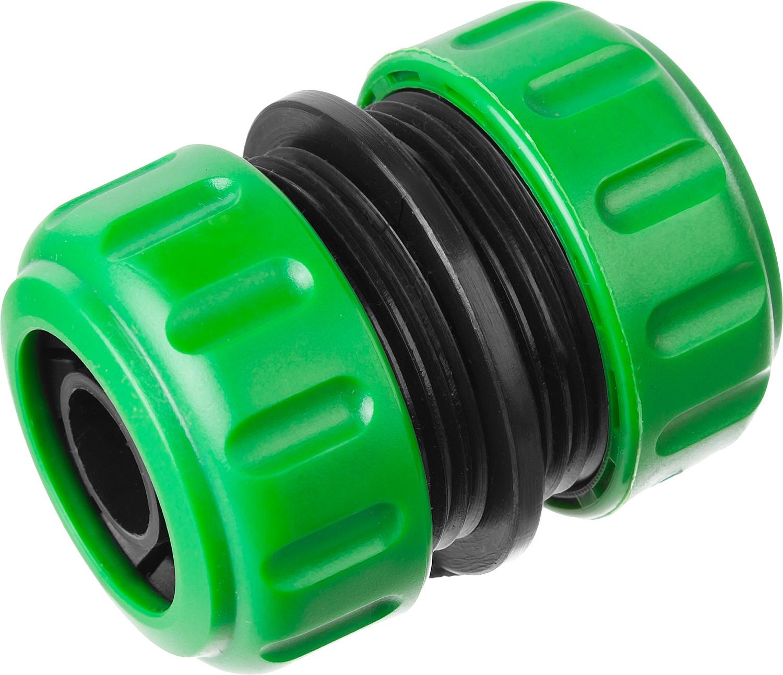 """Муфта РОСТОК (шланг-шланг), применяется для быстрого и надежного соединения (удлинения) двух участков поливочного шланга без помощи соединителей. Изготовлена из высококачественного пластика. Обеспечивает быстрое и надежное соединение.-Размер: 3/4""""; -Материал: Пластик."""