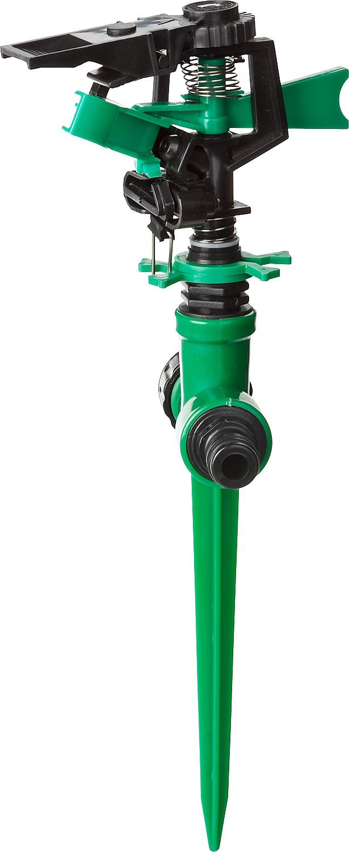 Распылитель РОСТОК применяется для стационарного полива растений при подключении к водопроводному шлангу с помощью соединителя. Мягко распыляет воду в заданном секторе вокруг себя, существенно облегчая работу по увлажнению почвы, и создает необходимый микроклимат для роста и развития растений. Распылитель изготовлен из качественного пластика. Конструкция изделия позволяет подключить распылитель к цепочке из нескольких распылителей (для этого необходимо открутить защитный колпачок и на его место вкрутить внешний адаптер (в комплект поставки не входит).