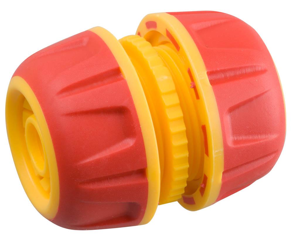 """Муфта GRINDA применяется для быстрого и надежного соединения (удлинения) двух шлангов диаметром 1/2"""". Использование материалов высочайшего качества вместе с последними технологиями производства гарантируют удобство в работе и долгий срок службы.-Размер: 1/2""""; -Материал изделия: пластик/резина."""