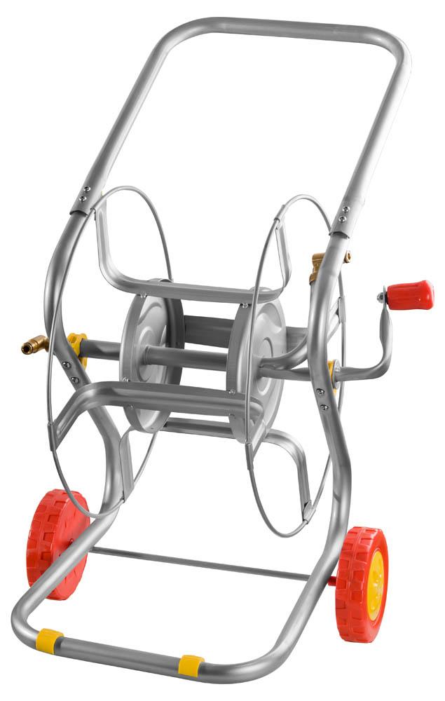 Катушка для шланга Grinda, на колесах. 8-428437 катушки тележки для шлангов