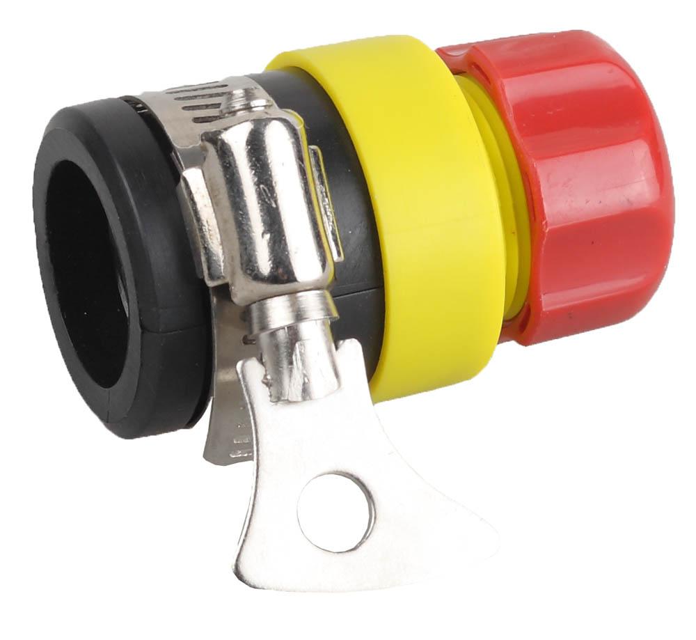Соединитель шланга Grinda, с хомутом. 8-426335_z01 папка a4 2 кольца диаметром 16 мм зеленая rb 16 2 03