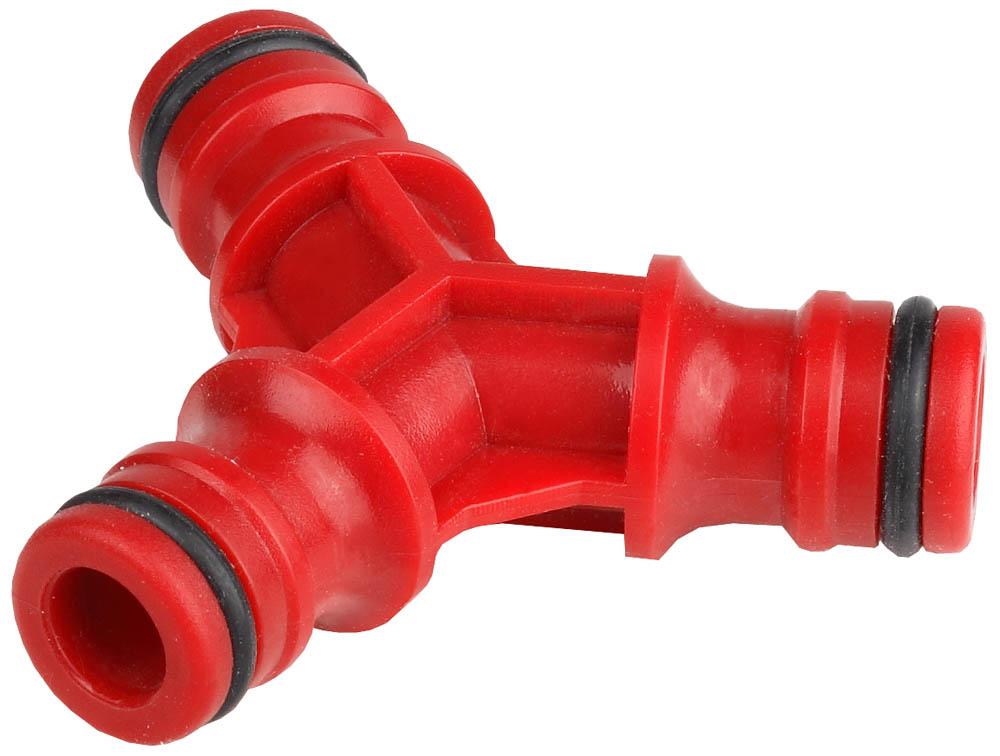 Тройник GRINDA применяется для разветвления поливочного шланга с помощью соединителей. Ударопрочный пластик повышает долговечность изделия. Уплотнительные кольца изготовлены из EPDM (этилен-пропилен-даен-метилен) резины повышенной эластичности, устойчивой к температурным и химическим воздействиям.-Материал изделия: пластик; -Материал уплотнительного кольца: EPDM.