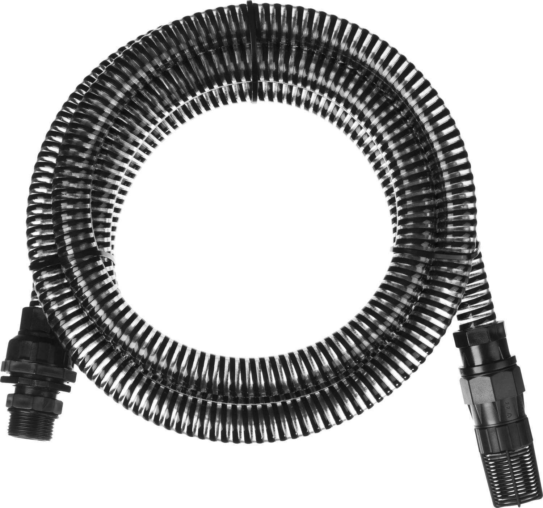 Шланг всасывающий GRINDA предназначен для откачки воды из различных водоемов. Глубина всасывания до 3,5 метров. Увеличенная толщина стенки, ПВХ спираль. Комплектуется обратным клапаном с фильтром очистки воды.