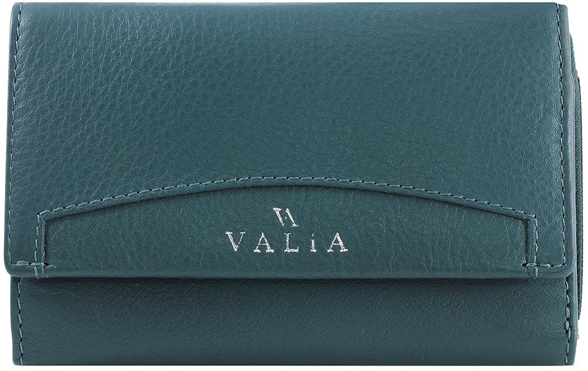 Кошелек женский Valia, цвет: бирюзовый. 3403