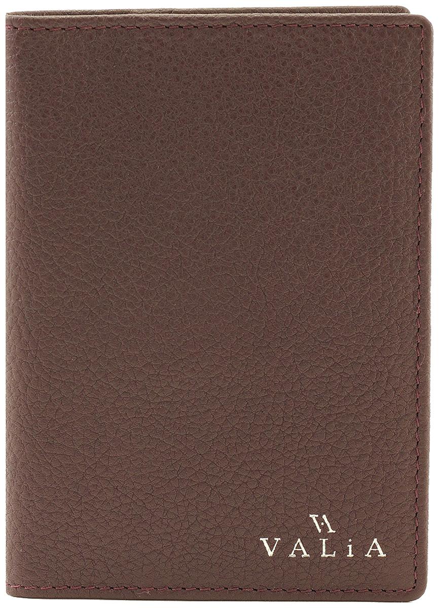 Обложка для паспорта Valia, цвет: фиолетовый. 3404