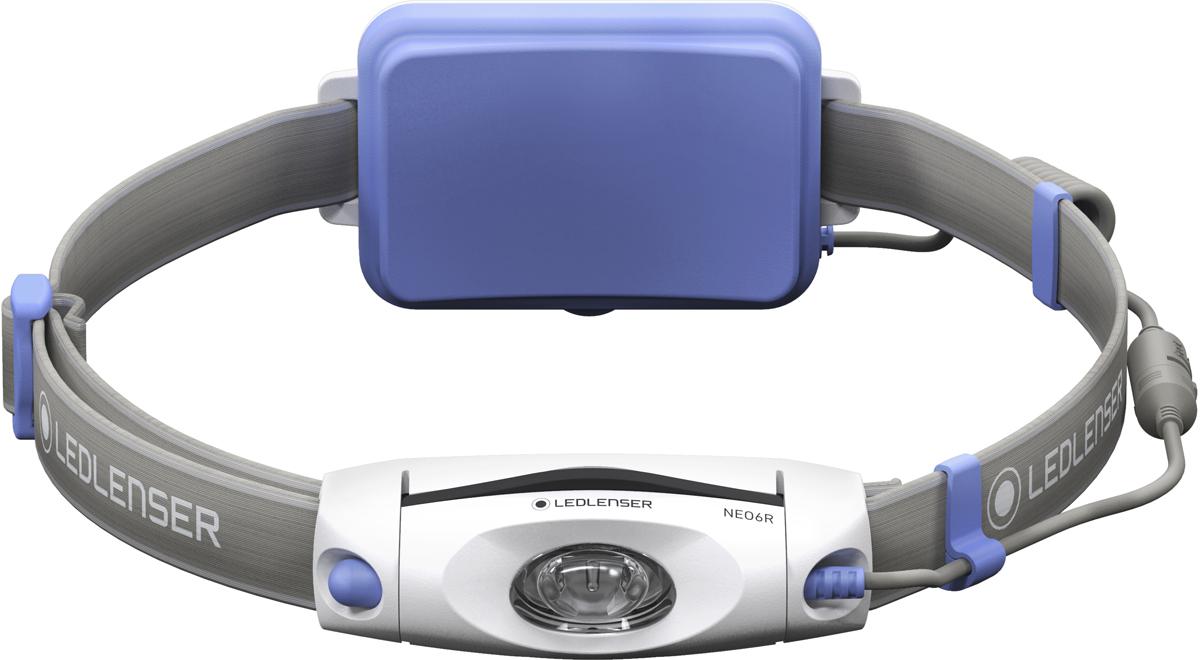 Фонарь налобный LED Lenser NEO6R, цвет: синий