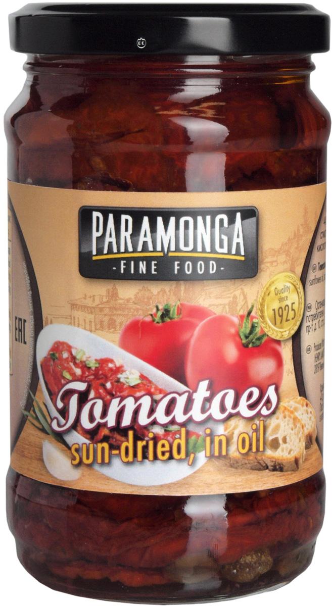 Paramonge Вяленые томаты в подсолнечном масле, 295 г артишоки жареные на гриле masiello в подсолнечном масле 290 г