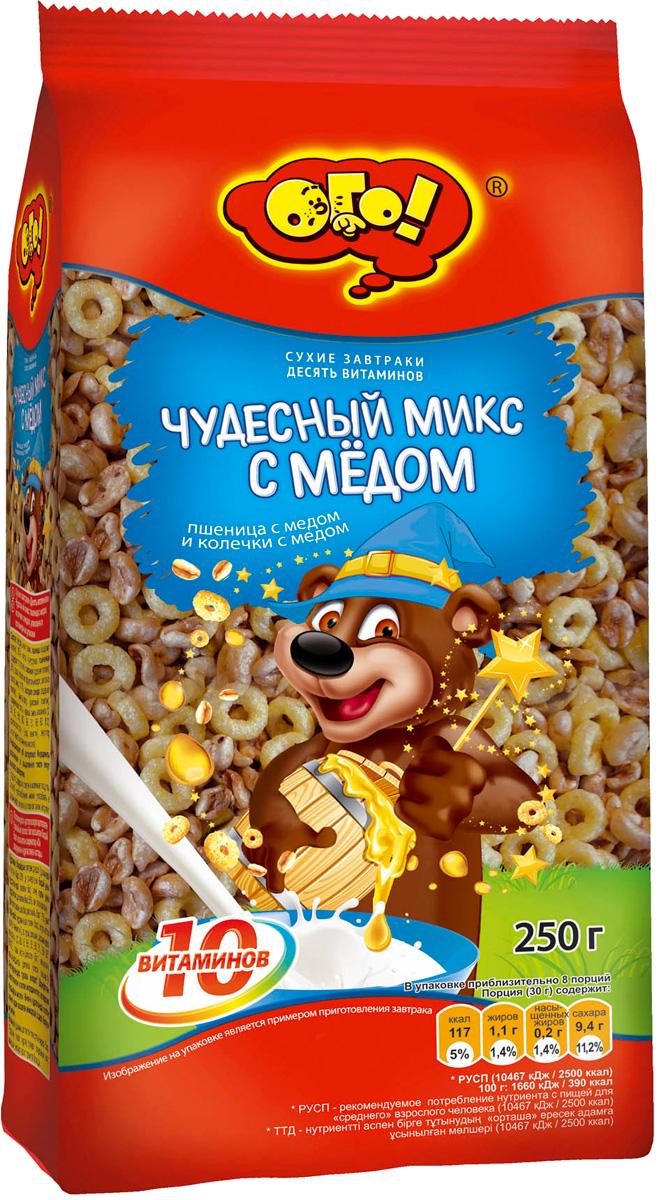 Ого! Сухой завтрак чудесный микс, 250 г ого сухарики ванильные 250 г