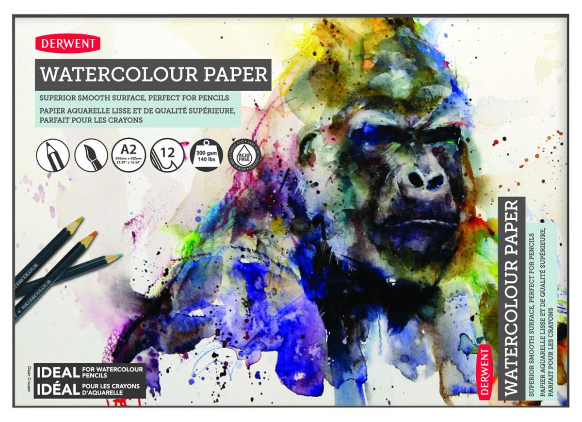 Derwent Альбом для акварельных карандашей 12 листов формат A2 -  Бумага и картон