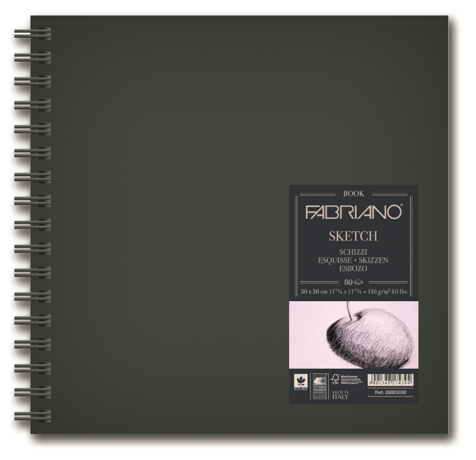 Fabriano Блокнот для зарисовок Sketchbook 80 листов 30 x 30 см блокноты artangels блокнот ангелы хранители дома 12х17