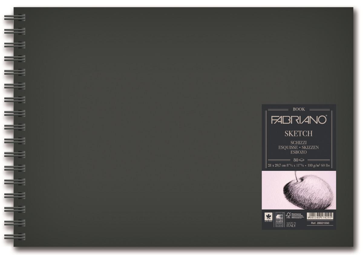 Fabriano Блокнот для зарисовок Sketchbook Портрет 80 листов формат A4 28021550 блокноты artangels блокнот ангелы хранители дома 12х17