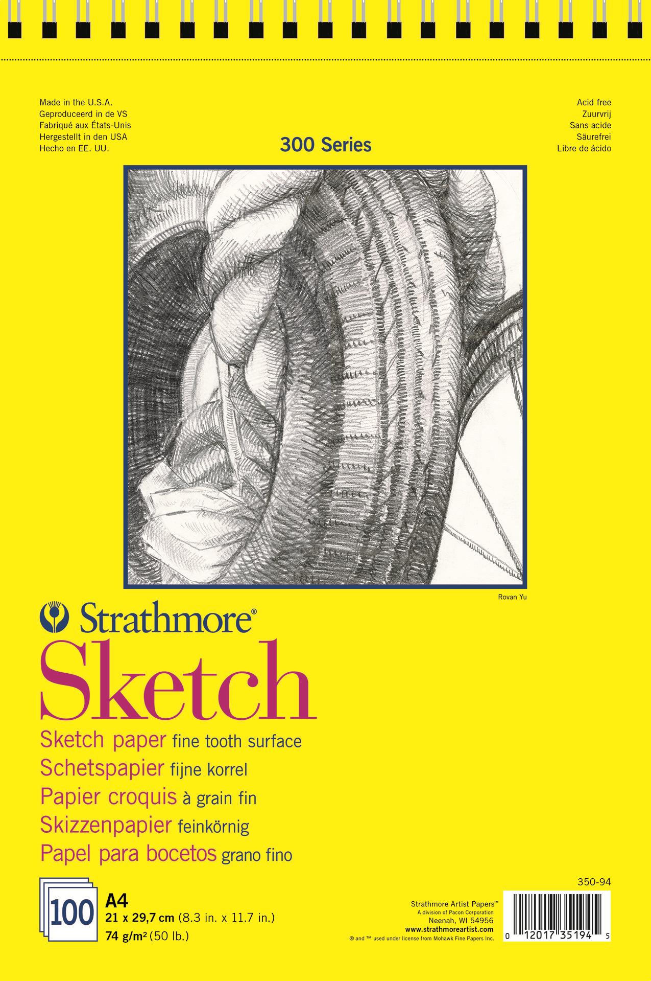 Strathmore Альбом для зарисовок 300 Series 100 листов формат A4