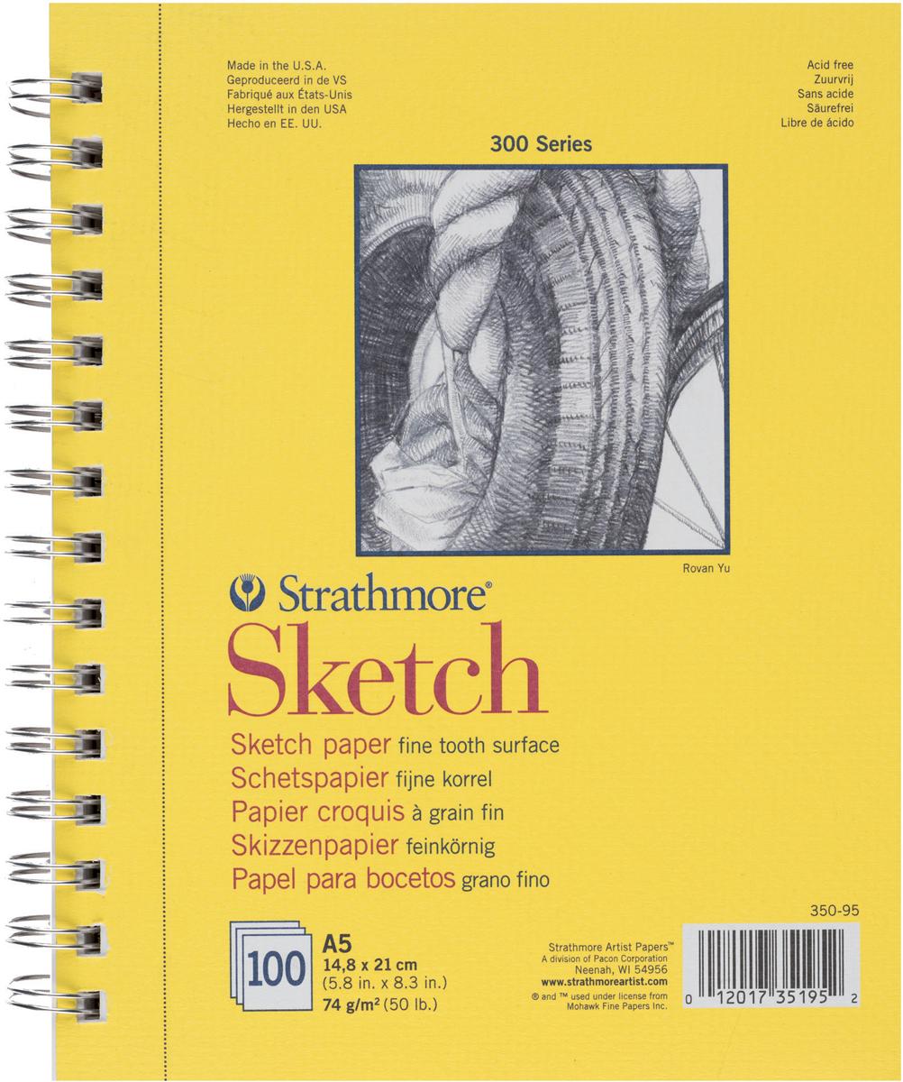 Strathmore Альбом для зарисовок 300 Series 100 листов формат A5