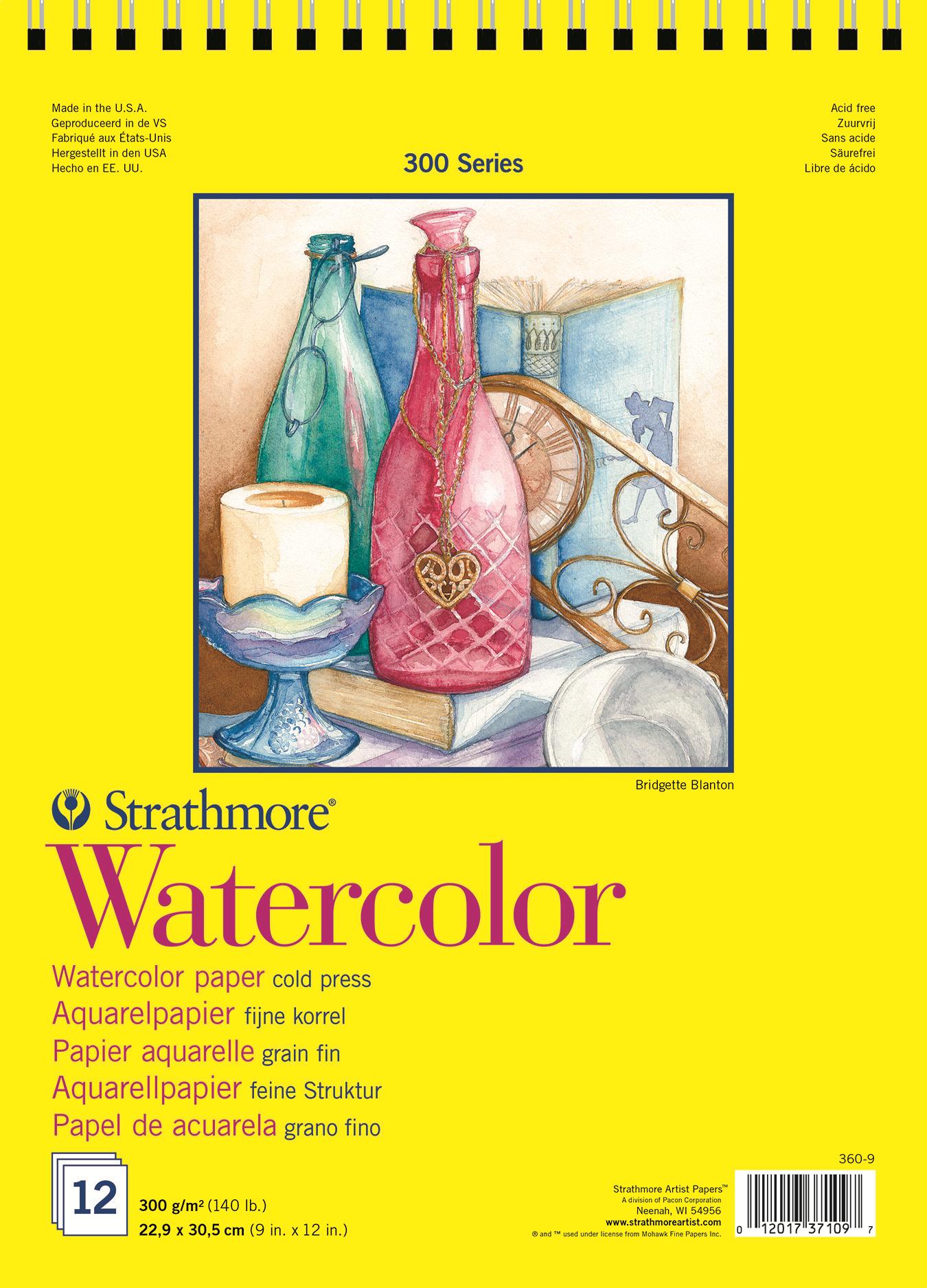 Strathmore Альбом для акварели 300 Series 12 листов формат A4+