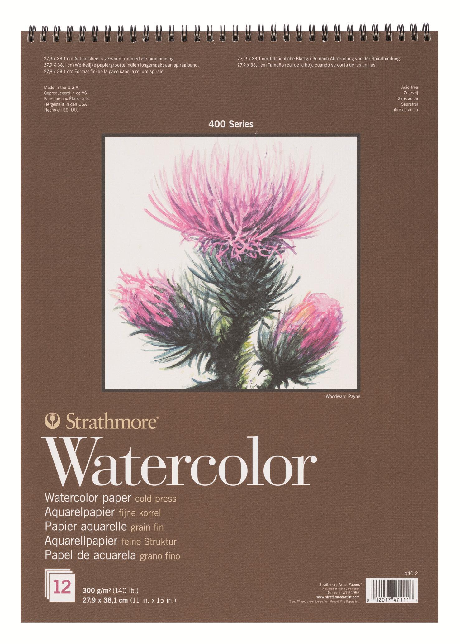 Strathmore Альбом для акварели 400 Series 12 листов формат A3 -  Бумага и картон