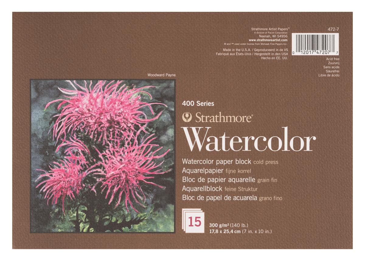 Strathmore Блок для акварели 400 Series 15 листов 17,8 x 25,4 см -  Бумага и картон