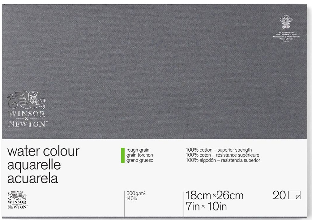 Winsor&Newton Блок для акварели Professional 20 листов 19 x 26 см