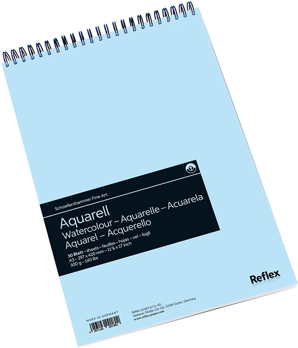 Reflex Альбом для акварели Watercolour 30 листов формат A3 -  Бумага и картон