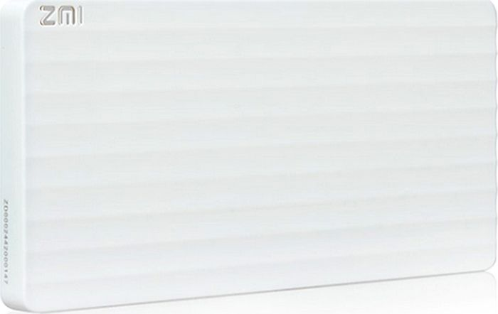 Xiaomi Power Bank Mi ZMI, White внешний аккумулятор (10 000 mAh) 10000mah power bank usb блок батарей 2 0 порты usb литий полимерный аккумулятор внешний аккумулятор для смартфонов gold