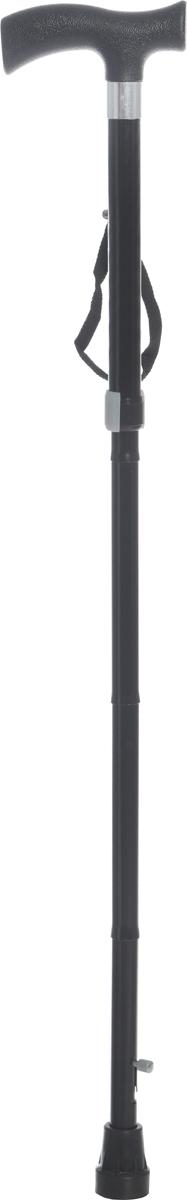 Ergoforce Трость алюминиевая складная Е 0601у 83-95 см, цвет: черный