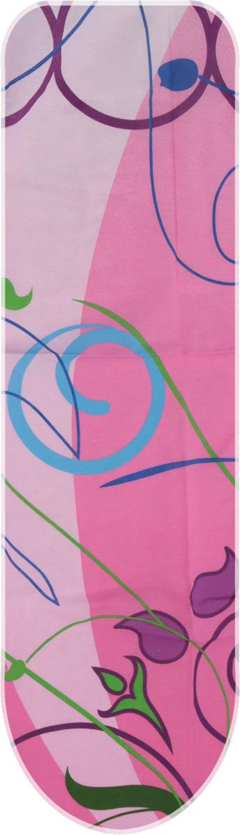 Чехол для гладильной доски Eurogold Basic, цвет: розовый, размер S. С34 eurogold 37542в mono