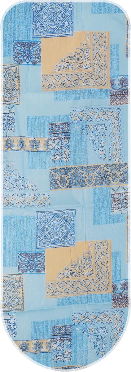 Чехол для гладильной доски Eva, цвет: синий, коричневый, 125 х 47 см. Е13 чехол eva с наклейками для приставки ds lite синий