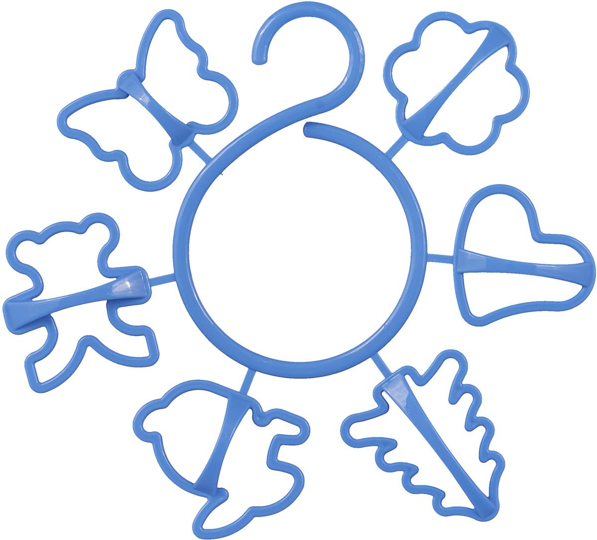 Набор форм для печенья Paterra, цвет: синий, 6 шт. 402_455 набор для гигиены paterra 5 в 1