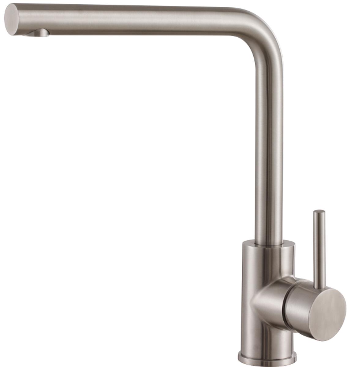 Смеситель для кухонной мойки РМС, вертикальный, цвет: серебристый. SL124-017F-1 смеситель ростовская мануфактура сантехники рмс с длинным поворотным изливом sl77bl 004fb 25