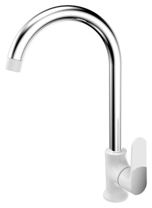 Смеситель для кухонной мойки РМС, горизонтальный, цвет: белый. SL123W-017F смеситель для кухни рмс sl121 с высоким изливом sl121bl 017f