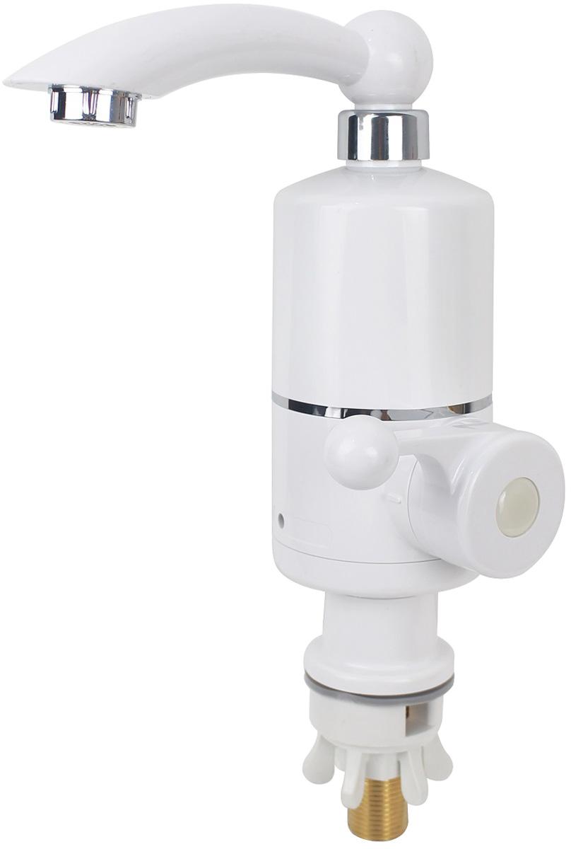 """Стильный и надёжный смеситель для кухни. Рукоятка обеспечивает удобство использования.Напряжение в электричесакой сети 220 В. Частота 50 Гц. Номинальная мощность 3 кВт. Ток 13 А. Диапазон давления воды 0,025-0,6 МПа (6 атм). Уровень водонепроницаемости IPX4. Диаметр присоединительной резьбы 1/2"""". Температура воды до 60°C."""