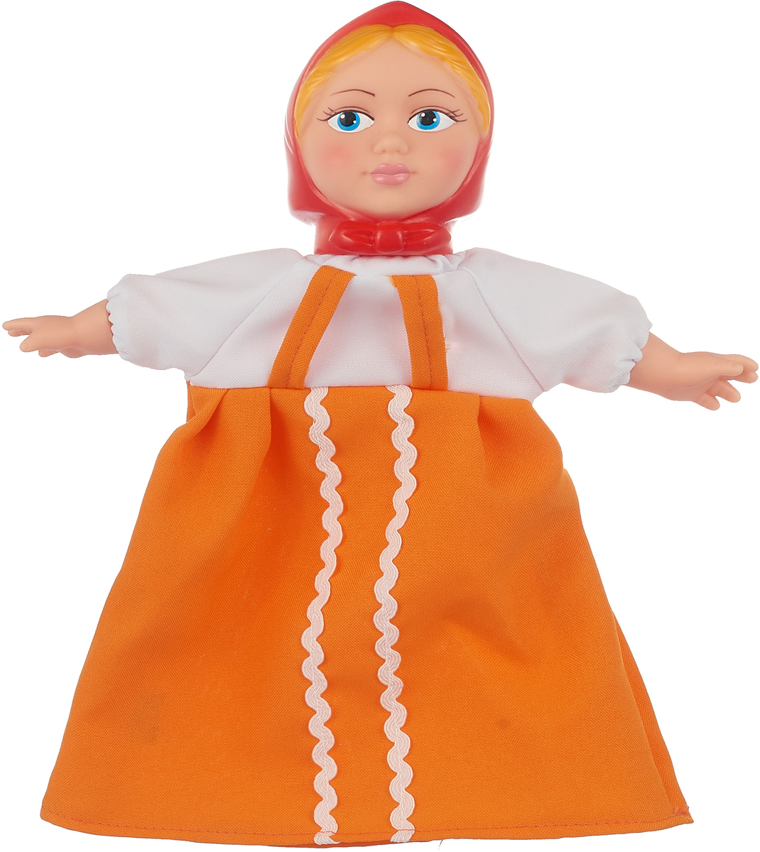 Sima-land Мягкая игрушка на руку Аленушка цвет платья оранжевый sima land антистрессовая игрушка заяц хрустик 05 цвет красный