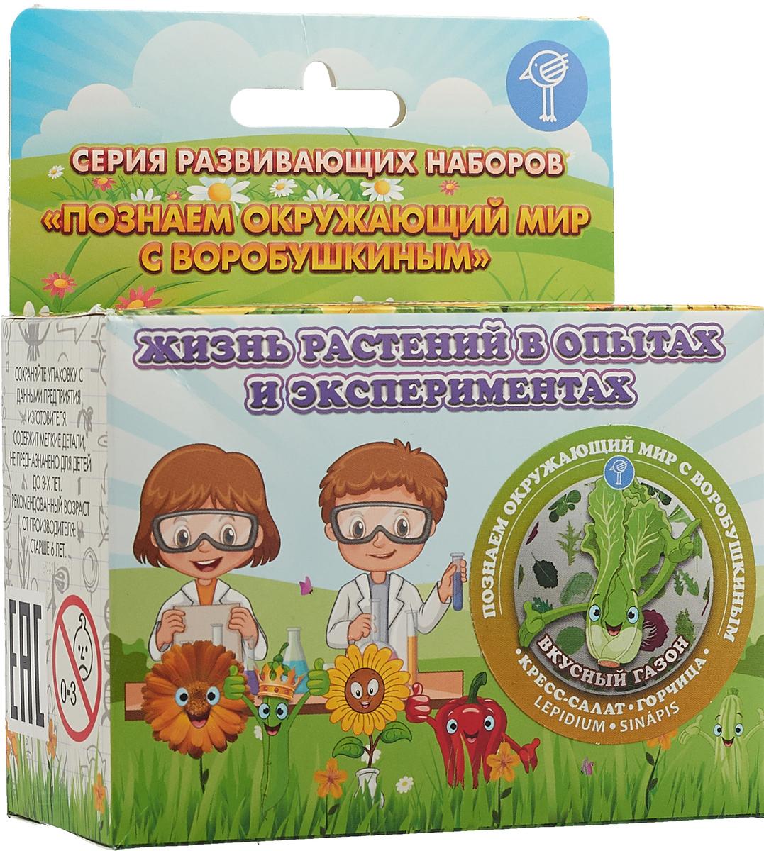 Воробышкин Набор для опытов и экспериментов Вкусный газон