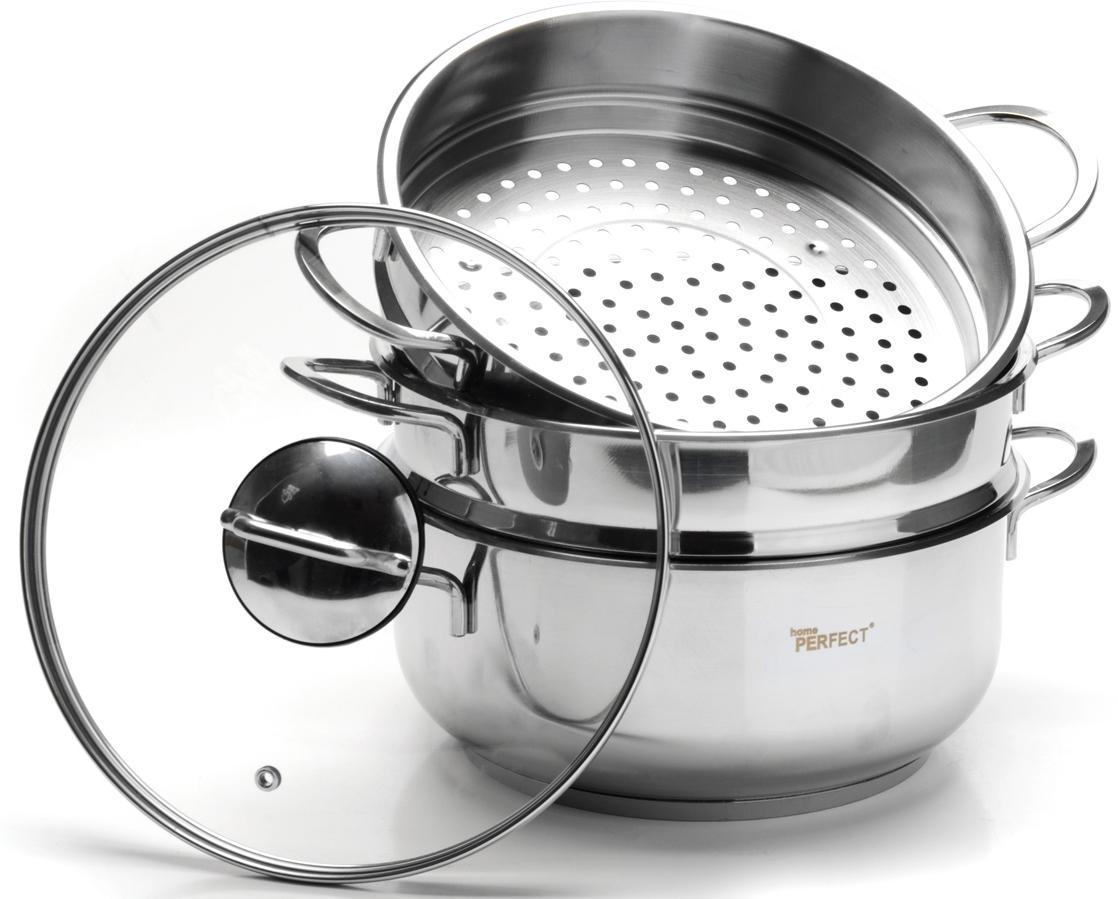 Мантоварка позволит вам одновременно приготовить несколько различных блюд. Она изготовлена из высококачественной нержавеющей стали. Идеально подходит для национальных блюд, таких как манты, пельмени на пару и т.д. Нержавеющие ручки не нагреваются. Крышка изготовлена из термостойкого стекла и нержавеющей стали. Такая крышка позволяет следить за процессом приготовления пищи без потери тепла. Она плотно прилегает к краю кастрюль, сохраняя аромат блюд. Подходит для использование на всех типах плит, включая индукционные. Подходит для мытья в посудомоечной машине.