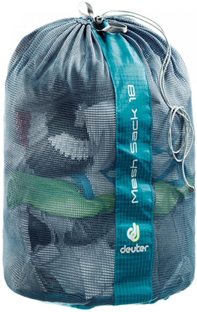 Гермомешок Deuter Mesh Sack, цвет: голубой, 18 л гермомешок deuter light drypack 3 magenta 39690 5002