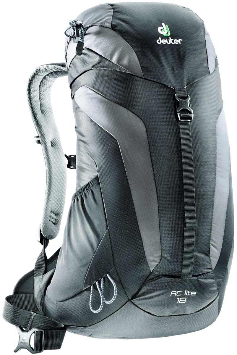 """Рюкзак туристический Deuter """"AC Lite"""", цвет: серый, черный, 18 л"""