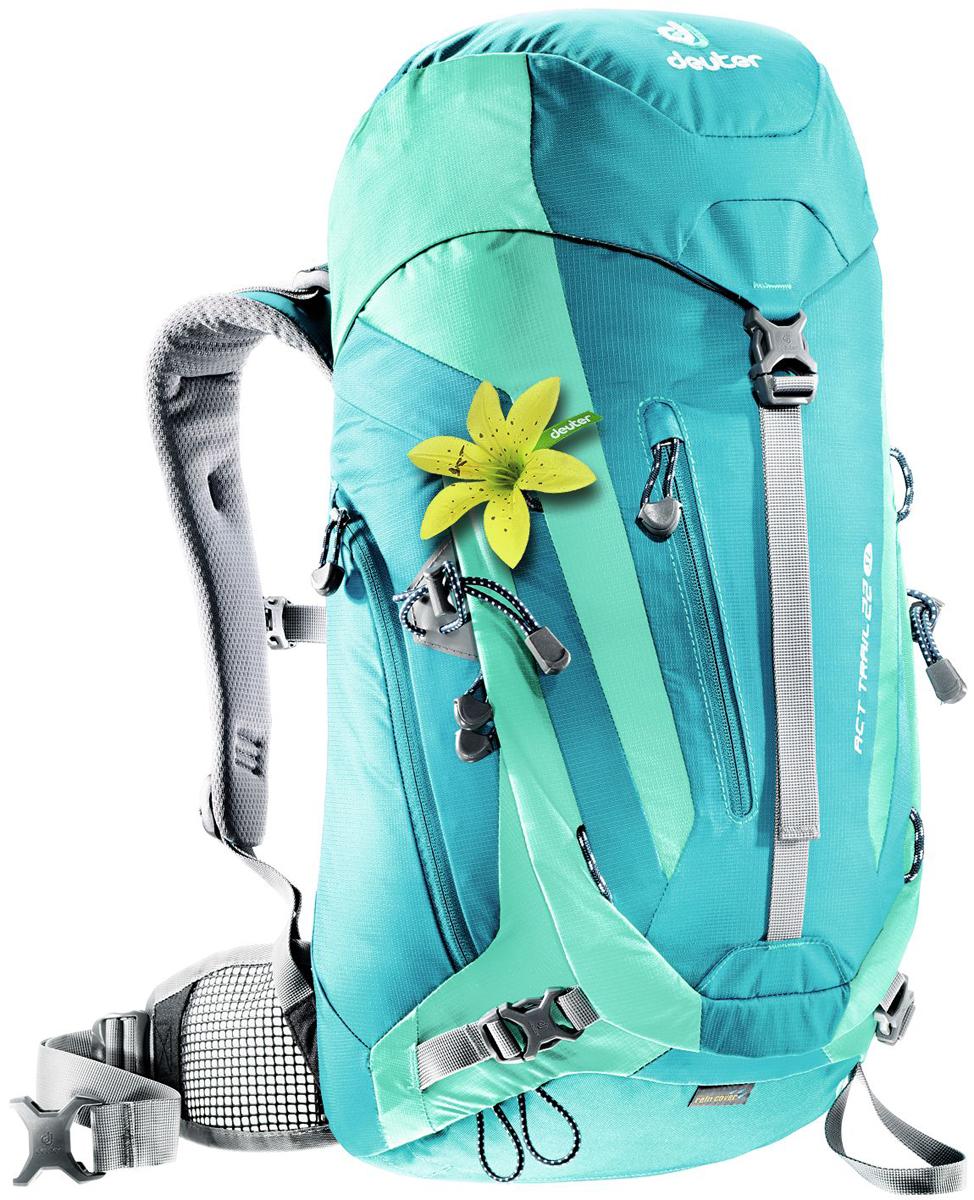 Рюкзак туристический Deuter ACT Trail, цвет: бирюзовый, голубой, 22 л цена