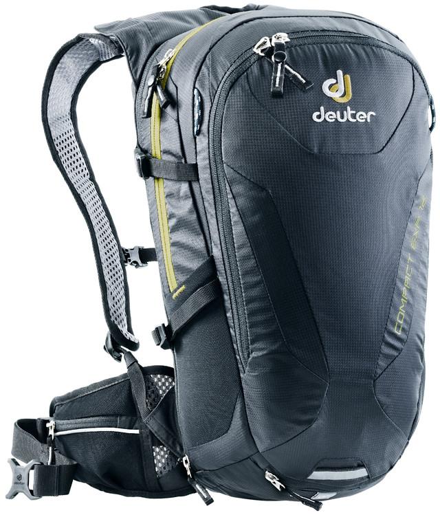 Рюкзак туристический Deuter Compact EXP, цвет: черный, 12 л рюкзак deuter bike compact exp 10 sl blueberry mint