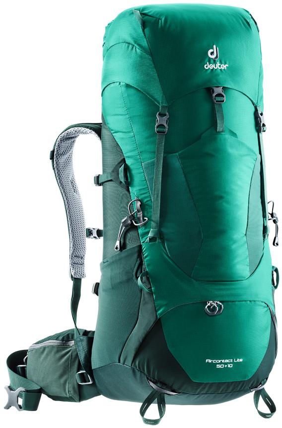 цена на Рюкзак туристический Deuter Aircontact Lite, цвет: салатовый, зеленый, 50 л
