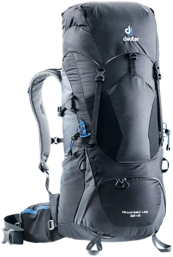 """Рюкзак туристический Deuter """"Aircontact Lite"""", цвет: темно-серый, черный, 32 л"""