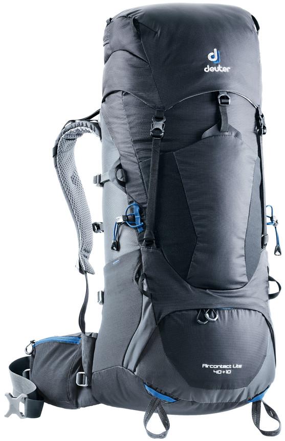 """Рюкзак туристический Deuter """"Aircontact Lite"""", цвет: темно-серый, черный, 40 л"""