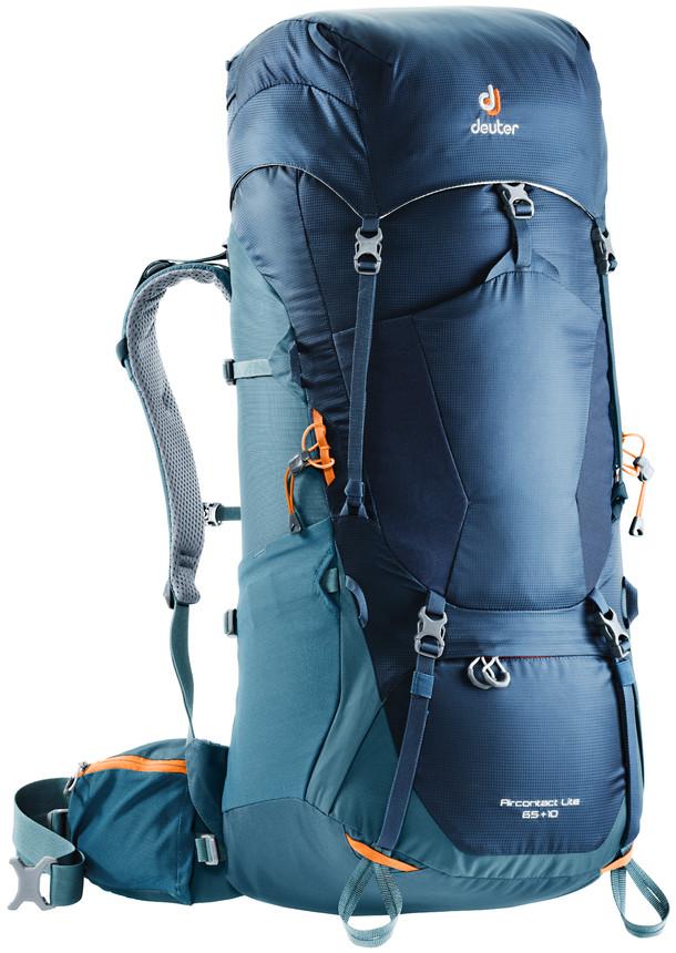 Рюкзак туристический Deuter Aircontact Lite, цвет: темно-синий, 65 л цена