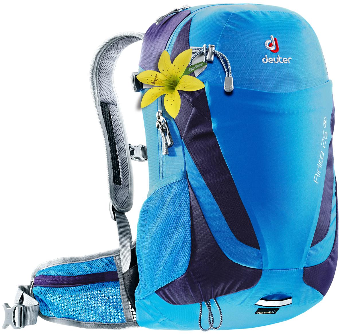 Рюкзак туристический Deuter Airlite, цвет: голубой, 26 л рюкзак deuter deuter snowtour 26 темно серый 26л