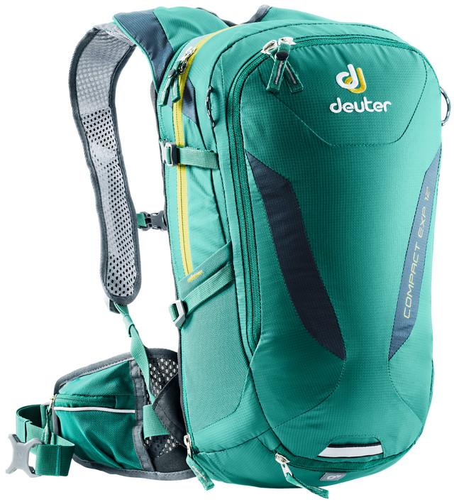 Рюкзак туристический Deuter Compact EXP, цвет: бирюзовый, 12 л рюкзак deuter bike compact exp 10 sl blueberry mint
