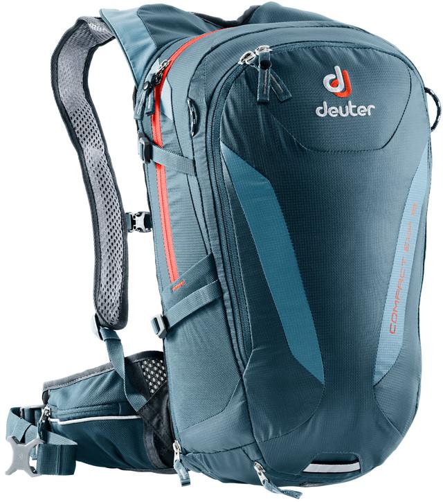 Рюкзак туристический Deuter Compact EXP, цвет: темно-синий, 16 л рюкзак deuter bike compact exp 10 sl blueberry mint
