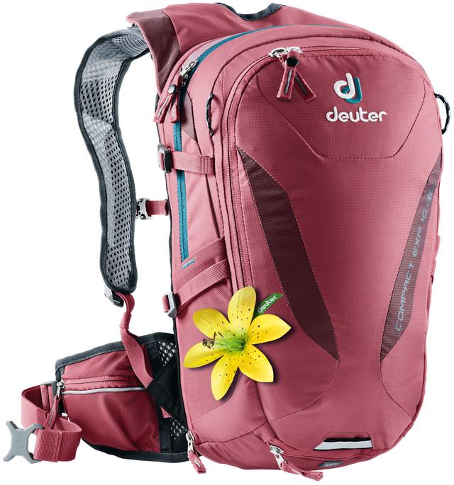 Рюкзак туристический Deuter Compact EXP, цвет: фуксия, 10 л рюкзак deuter bike compact exp 10 sl blueberry mint