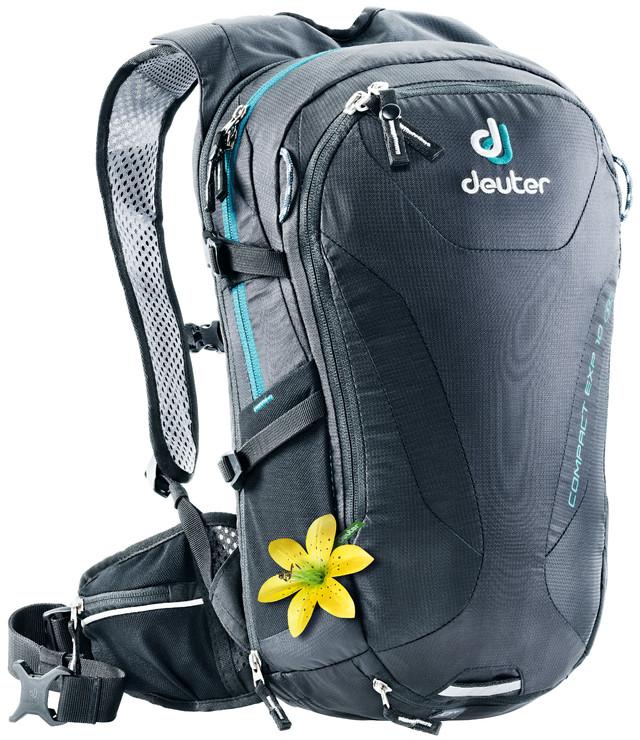 Рюкзак туристический Deuter Compact EXP, цвет: черный, 10 л рюкзак deuter bike compact exp 10 sl blueberry mint