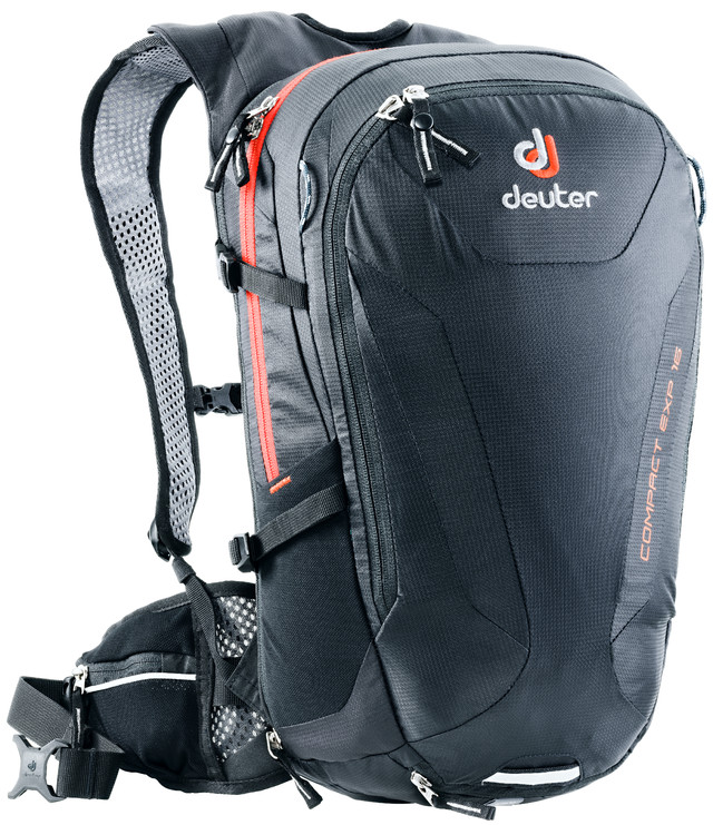 Рюкзак туристический Deuter Compact EXP, цвет: черный, 16 л рюкзак deuter bike compact exp 10 sl blueberry mint