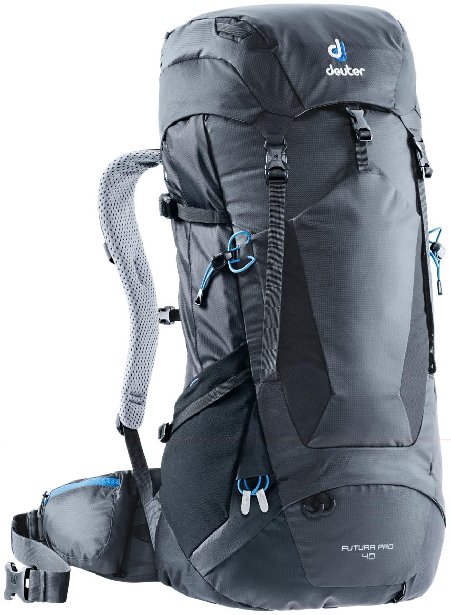 """Рюкзак туристический Deuter """"Futura PRO"""", цвет: темно-серый, черный, 40 л"""