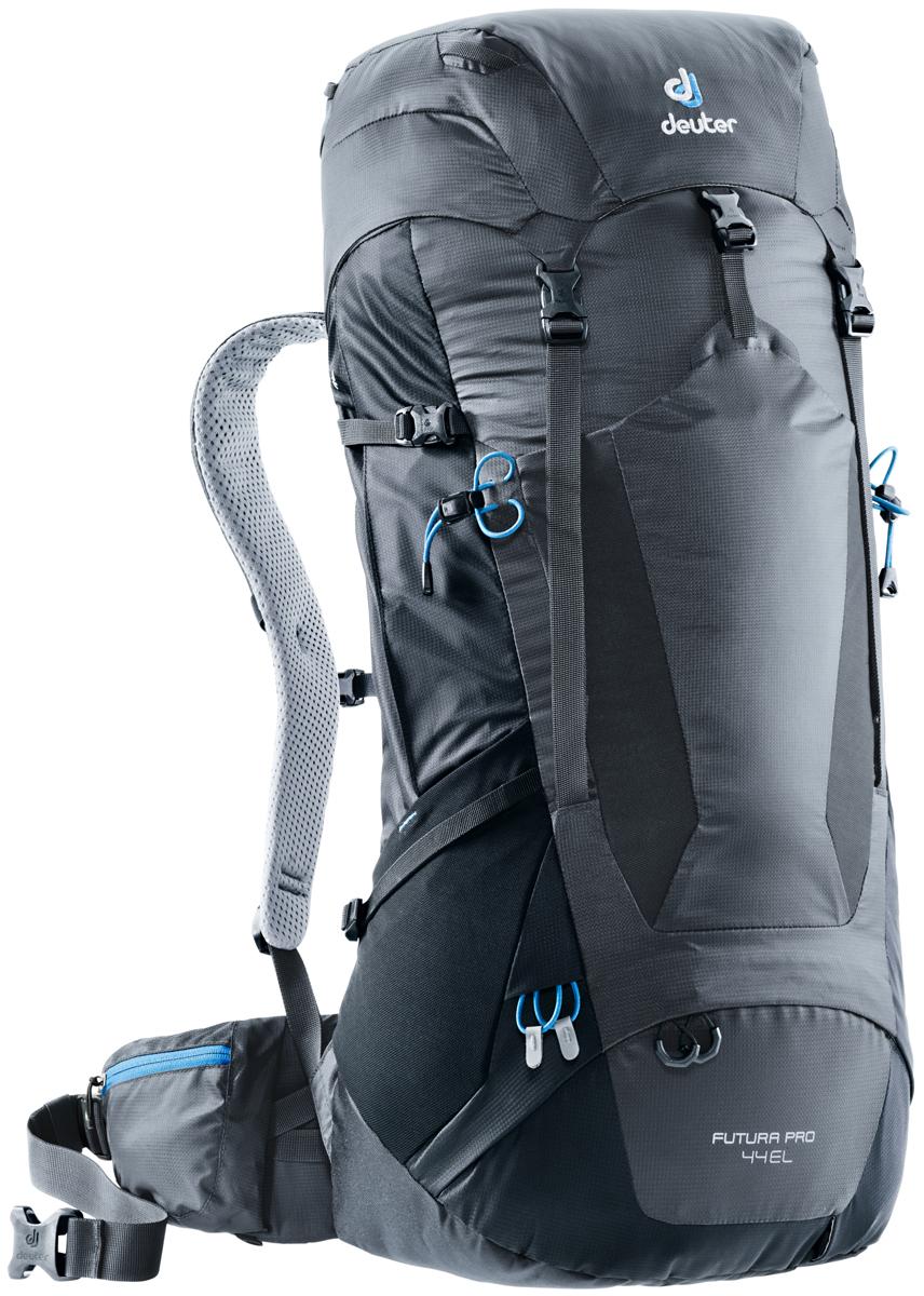 """Рюкзак туристический Deuter """"Futura PRO"""", цвет: темно-серый, черный, 44 л"""